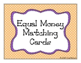 Equal Money Matching Cards (Equivalent Coins)