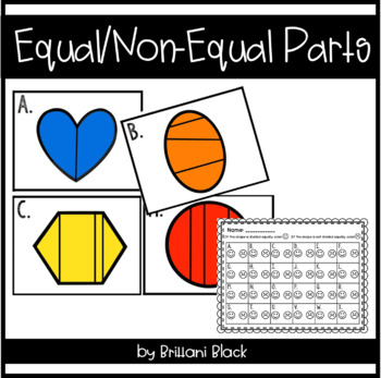 Equal/Non Equal Parts~ Math Station