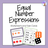 Equal Number Expressions Task Cards