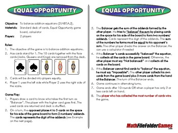 Equal Opportunity - 3rd Grade Math Game [CCSS 3.NBT.A.2]