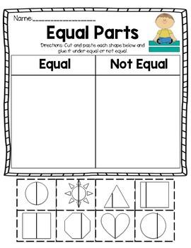 Equal Parts Activity Sheet