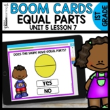 Equal Parts BOOM CARDS | DIGITAL TASK CARDS | Module 5 Lesson 7