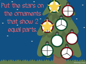 Equal Parts: Christmas Ornaments and Presents (Great for Google Classroom!)