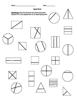 Equal Parts Coloring Sheet