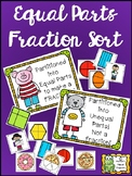 Equal Parts Fraction Sort