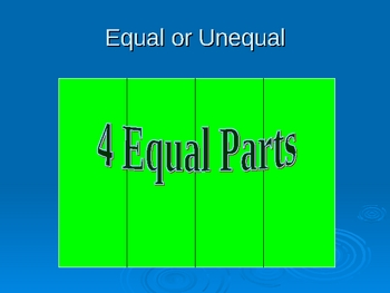 Equal Parts (Fractions) 2nd Grade