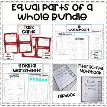 Equal Parts of a Whole (Bundle)