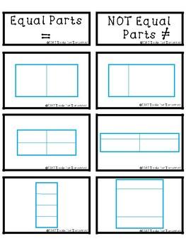 Equal Parts vs. Not Equal Parts Sorting Activity