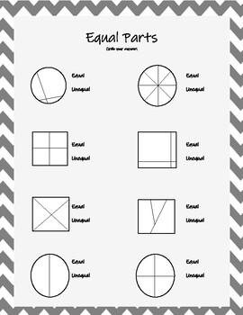 Equal Parts worksheet