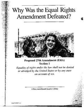 Equal Rights Amendment:  DBQ