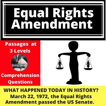 Equal Rights Amendment Differentiated Reading Passage March 22