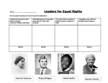 Equal Rights Leaders Cut and Paste