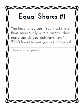 Equal Share Center Activity