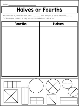 Equal Shares of Shapes Printables