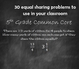 Equal Sharing 5th Grade Math Common Core - Fractions as Division