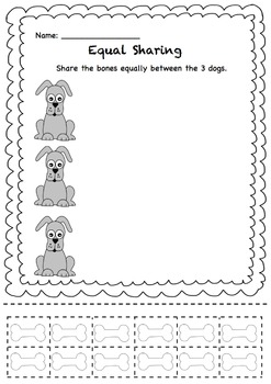 Equal Sharing - Share the Bones between the Dogs!