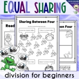 Equal Sharing / Splitting Numbers / Introduction to Division Worksheets