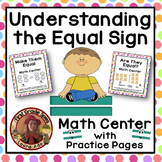 Equal Sign Centers & Practice Pages