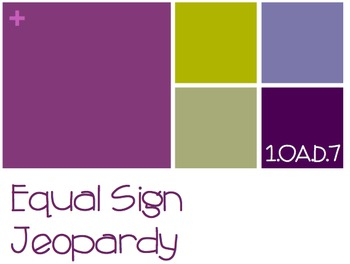 Equal Sign Jeopardy