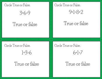 Equal Sign Task Cards