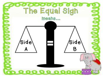Equal Sign = The Balancing Act