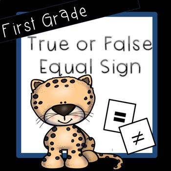 Equal Sign, True or False, Equations