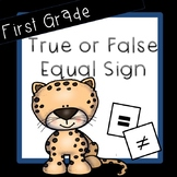 Equal Sign First Grade
