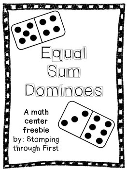 Equal Sum Dominoes