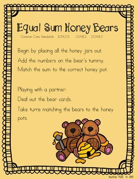 Equal Sums Honey Bears