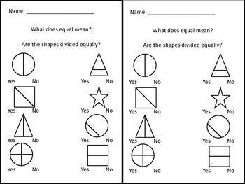 Equal and Non-Equal Shapes
