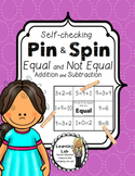 Equal and Not Equal - Self-Checking Math Centers