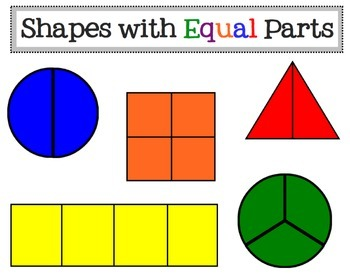 Image result for equal parts fractions