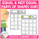 Equal and Not Equal Parts of Shapes Sorting