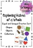 Equal and Unequal Fraction Sort - Halves