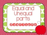 Equal and Unequal Parts Fraction Powerpoint