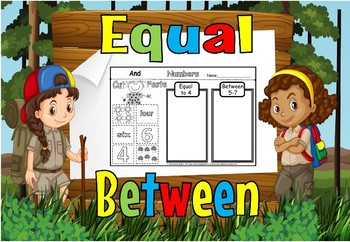 Equal and between