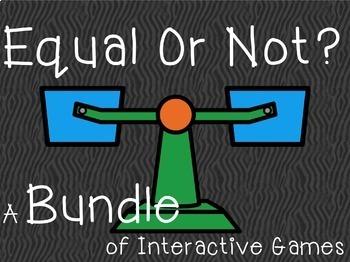 Equal or Not BUNDLE 1.OA.D.7