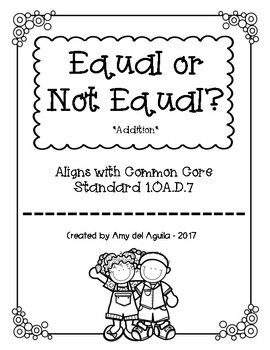Equal or Not Equal - Addition