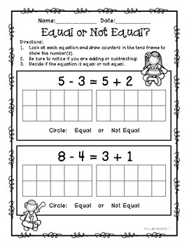 Equal or Not Equal Addition and Subtraction