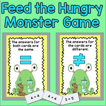 Equal or Not Equal - Monster Themed Printables
