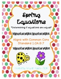 Equal or Not Equal Spring Coloring Page {Addition and Subt