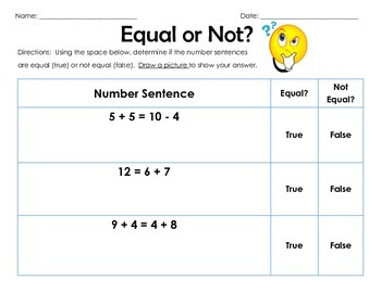 Equal or Not?  True False Equations