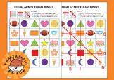 Equal or Unequal BINGO Game