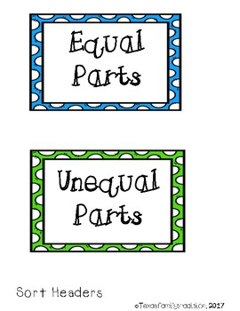 Equal or Unequal Parts Sort