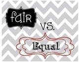 Equal vs. Fair mini posters