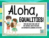 Equality Task Cards 1.OA.D.7