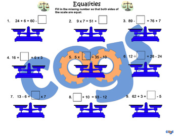 Equalities Worksheet