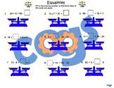 Equalities Worksheet
