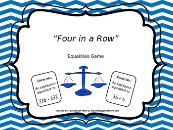 Equalities and Expressions:  Four-In-A-Row Game