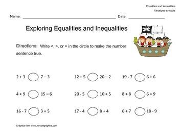 Inequalities and Equalities